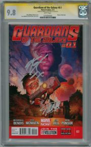 Guardians Of The Galaxy #0.1 First Print CGC 9.8 Signature Series Signed Stan Lee & Karen Gillen Marvel comic book
